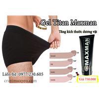 Gel titan Maxman cải thiện sinh lực nam giới hiệu quả